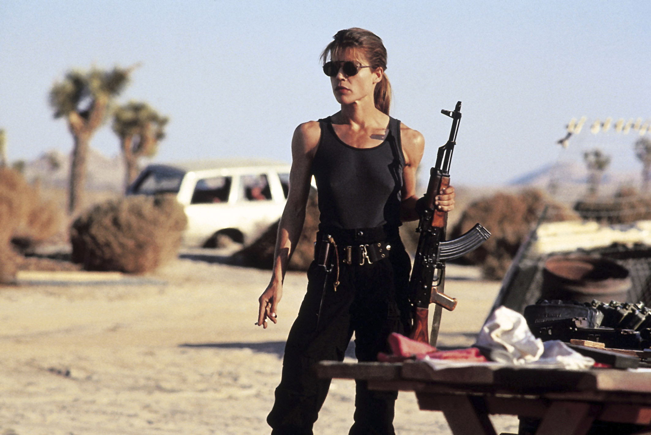 TERMINATOR 2: JUDGMENT DAY, Linda Hamilton, 1991. ©TriStar Pictures/ Courtesy: Everett Collection