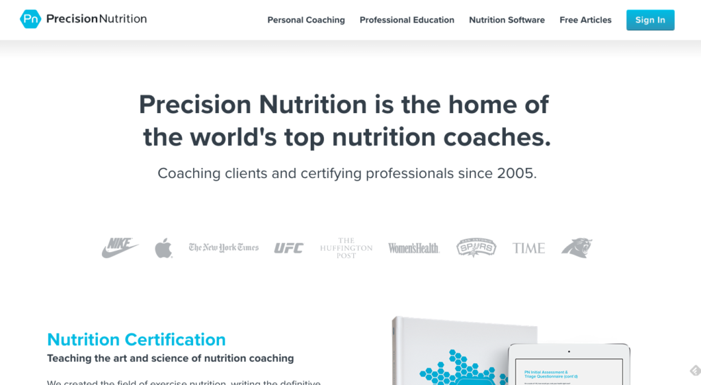 Precision Nutrition Nutrition Coaching Software And Certification