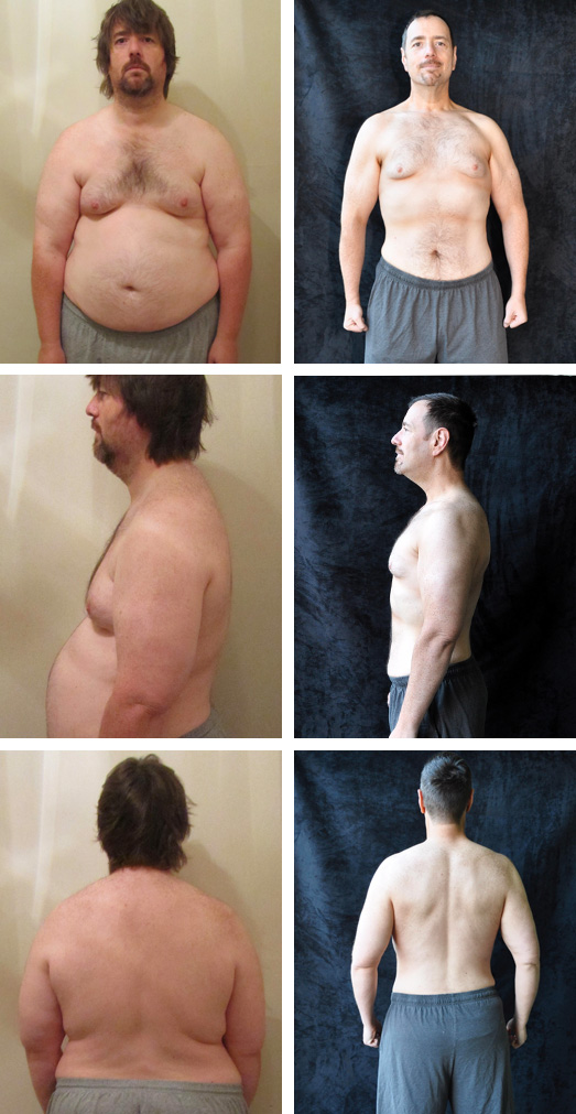 man weight loss transformation before after