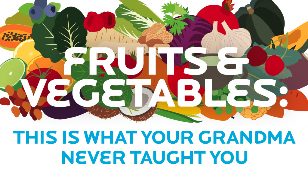 [Infographic] Fruits and vegetables: This is what your grandma never taught you.