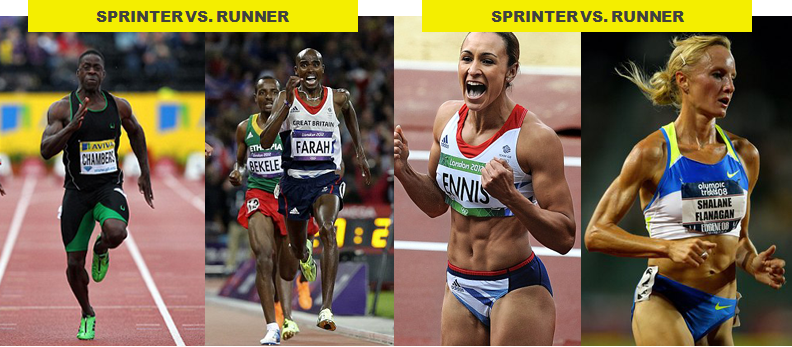 Sprint versus endurance performance