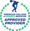ACSM logo, a nutrition continuing education partner