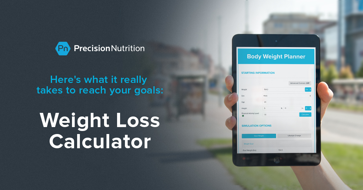 Precision Nutrition S Weight Loss Calculator Eat Less Move More