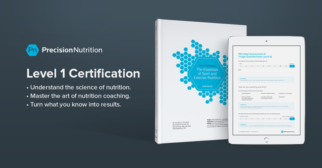 Opening April 2019 The Precision Nutrition Level 1 Certification