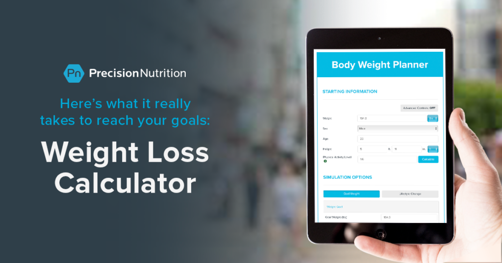 Precision Nutrition's Weight Loss Calculator: Eat less? Move